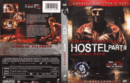 Eli Roth signed Hostel Part II DVD cover w/coa Director