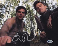 Eli Roth Signed Inglorious Bastards 8x10 Photo w/ Brad Pitt Beckett BAS #B19951