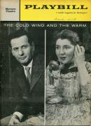 Eli Wallach Maureen Stapleton Suzanne Pleshette Cold Wind And The Warm Playbill