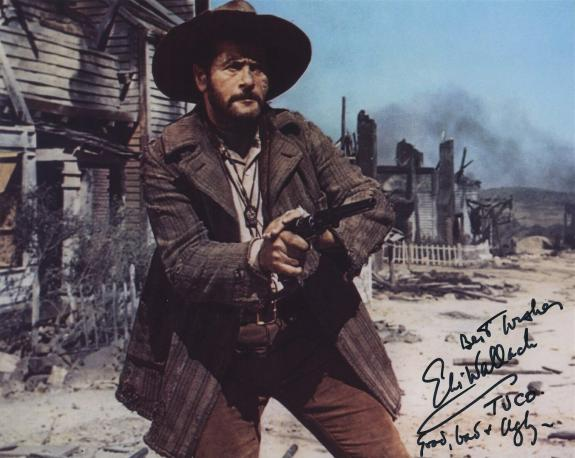 Eli Wallach Signed Autographed Color The Good The Bad & The Ugly Photo