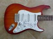 Eli Young Band x4 IP Signed Autographed Guitar Country Music PSA Guaranteed