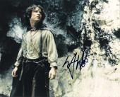 """ELIJAH WOOD as FRODO BAGGINS in """"THE LORD of the RINGS"""" Signed 10x8 Color Photo"""