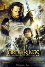 Elijah Wood autographed Movie Poster (Lord Of The Rings: The Return of The King)
