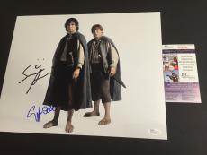 ELIJAH WOOD & SEAN ASTIN signed 11x14 Photo LORD OF THE RINGS JSA 3