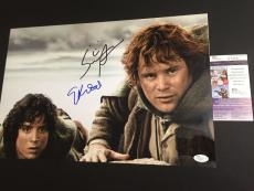 ELIJAH WOOD & SEAN ASTIN signed 12x18 Photo LORD OF THE RINGS JSA Authenticated