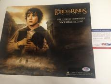 ELIJAH WOOD signed 11x14 Movie Poster LORD OF THE RINGS The Two Towers PSA