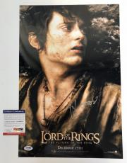 ELIJAH WOOD signed 12x18 Movie Poster LORD OF THE RINGS The Return of King PSA