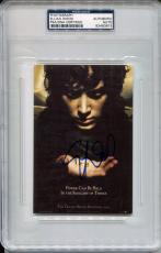 ELIJAH WOOD Signed 4x6 Lord of the Rings Trilogy Movie Poster Photo PSA/DNA