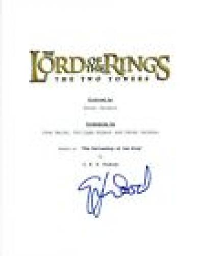 Elijah Wood Signed Autograph THE LORD OF THE RINGS THE TWO TOWERS Script COA VD