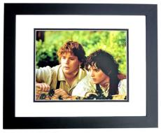 Elijah Wood Signed - Autographed Lord of the Rings - Frodo Baggins 11x14 inch Photo - BLACK CUSTOM FRAME - Guaranteed to pass PSA or JSA