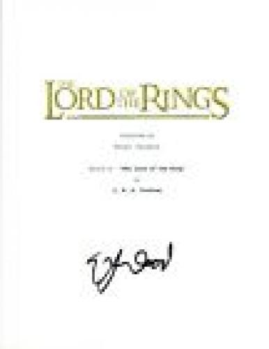 Elijah Wood Signed Autographed THE LORD OF THE RINGS Movie Script COA VD