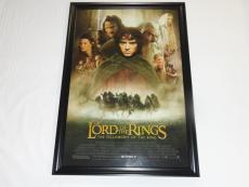 Elijah Wood Signed Framed Lord Of The Rings The Fellowship Of Ring 27x40 Poster