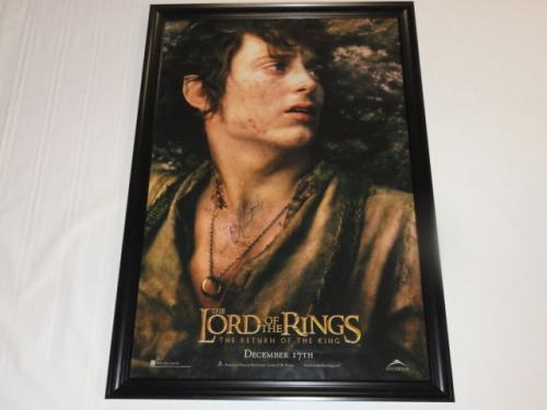 Elijah Wood Signed The Lord Of The Rings Return Of The King 27x40 Poster