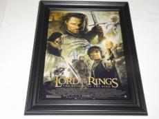 Elijah Wood Signed Framed The Lord Of The Rings The Return Of The King Poster