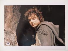 Elijah Wood Signed LOTR Lord of the Rings 11x14 Photo (PSA/DNA) #Q26713