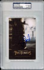 ELIJAH WOOD Signed Slabbed 4x6 Lord of the Rings Two Towers Poster Photo PSA/DNA