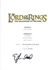Elijah Wood Signed THE LORD OF THE RINGS FELLOWSHIP OF THE RING Script COA VD
