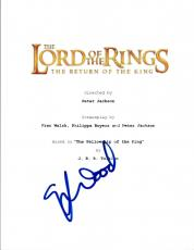 Elijah Wood Signed THE LORD OF THE RINGS RETURN OF THE KING Movie Script COA VD