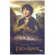 "Elijah Wood The Lord of the Rings Autographed 12"" x 18"" Movie Poster - BAS"