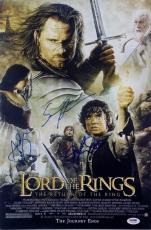 ELIJAH WOOD Serkis SEAN ASTIN Cast Signed Lord of the Rings 12x18 Photo PSA LOTR