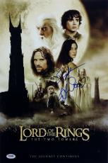 Elijah Woods Sean Astin Signed Lord of the Rings 12x18 Photo PSA/DNA Auto LOTR