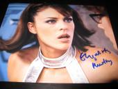 ELIZABETH HURLEY SIGNED AUTOGRAPH 8x10 PHOTO AUSTIN POWERS PROMO IN PERSON COA F