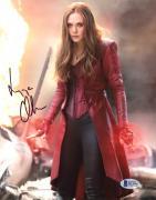 "Elizabeth Olsen Autographed 8"" x 10"" Avengers: On Battlefield - Beckett COA"