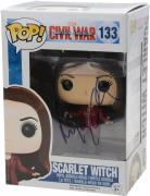 Elizabeth Olsen Captain America Civil War Autographed #133 Scarlet Witch Funko Pop! - JSA