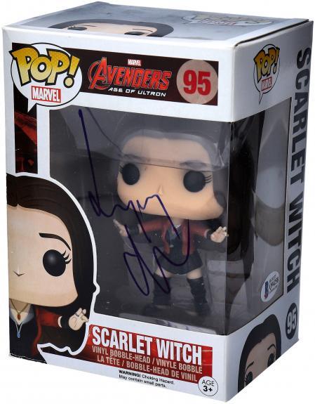 Elizabeth Olsen Scrlet Witch Autographed #95 Funko Pop!