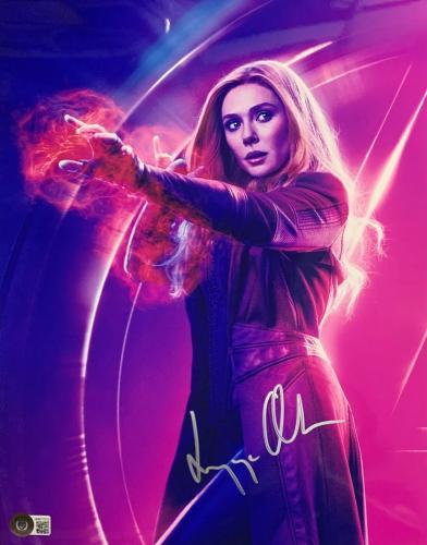 Elizabeth Olsen Signed 11x14 Photo Scarlett Witch Wandavision BAS Beckett