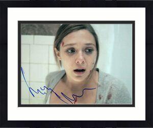 Elizabeth Olsen Signed  8x10 Photo w/COA Wanda Vision Sorry For Your Loss #1