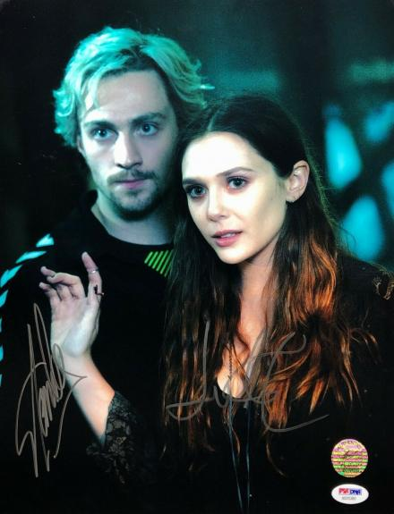 Elizabeth Olsen & Stan Lee Signed Avengers 11x14 Photo *Marvel PSA/Stan Lee Holo