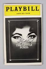 "Elizabeth Taylor Signed ""The Little Foxes"" Playbill Opening Night Program – JSA Full LOA"