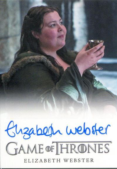 Elizabeth Webster Autographed 2015 Game of Thrones Card