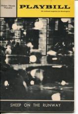 Elizabeth Wilson Barnard Hughes John McGiver Sheep On The Runway 1970 Playbill
