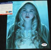 Elle Fanning signed 8 x 10, Maleficent, Boxtrolls, Phoebe in Wonderland, PSA/DNA