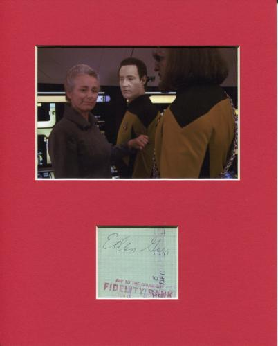 Ellen Geer Star Trek: The Next Generation Rare Signed Autograph Photo Display