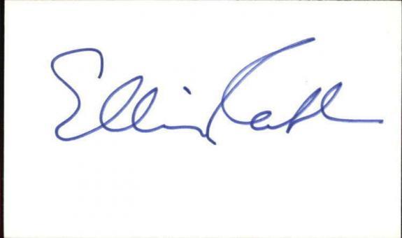 "ELLIS RAAB d. 1998 CHEERS Signed 3""x5"" Index Card"