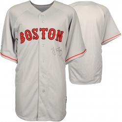 Jacoby Ellsbury Boston Red Sox Autographed Gray Replica Jersey   - Mounted Memories