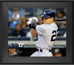 "Jacoby Ellsbury New York Yankees Framed 20"" x 24"" Gamebreaker Photograph with Game-Used Ball"