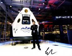 Elon Musk Autographed Signed Dragon V2 11x14 Poster Photo Tesla SpaceX AFTAL