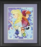 "Elsa and Anna Frozen Disney Framed ""We Only Have Each Other"" 11"" x 14"" Matted Photo"