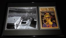 Elton John 12x18 Framed Rolling Stone Cover & Dodger Stadium Photo Display