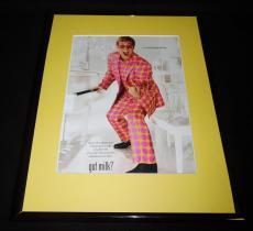 Elton John 2001 Got Milk Mustache Framed 11x14 ORIGINAL Vintage Advertisement