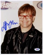 "Elton John Autographed 8""x 10"" Wearing Red Glasses Photograph -  PSA/DNA COA"