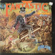 Elton John Autographed Captain Fantastic & The Brown Dirt Cowboy Album Cover - PSA/DNA COA