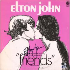 "Elton John Autographed ""Friends"" Album Cover with Vinyl - BAS"