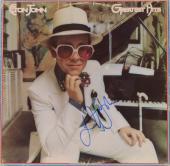 Elton John Autographed Greatest Hits Album Cover - PSA/DNA COA