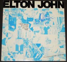 Elton John Autographed I don't want to go on with you like that LP Record Album Cover - promotional single