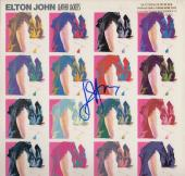 Elton John Signed - Autographed Leather Jackets LP Record Album Cover - promotional - Guaranteed to pass PSA or JSA